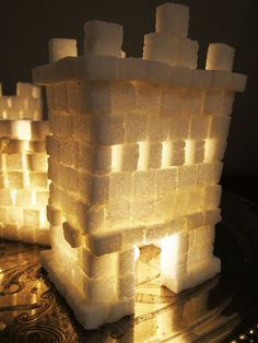 sugar cubes castle