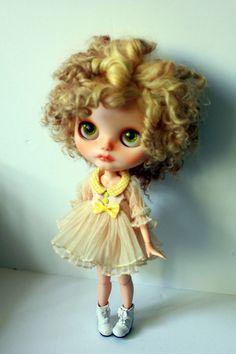 Reserved for Jenn Lemon Meringue OOAK Custom par BlytheForMe