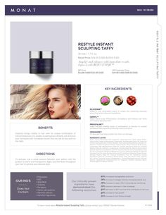 MONAT Restyle Instant Sculpting Taffy Get yours at www.haircanada.net