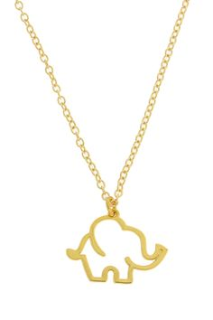 Elephant Charm Necklace $18