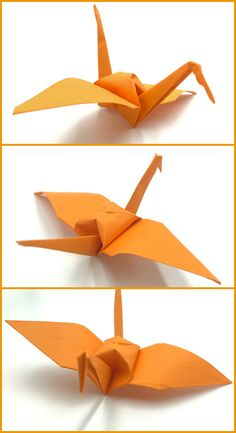 Grulla De Papel Origami Fácil Papiroflexia Origami Easy, Origami Step By Step, Crafts For Kids, Tutorials, Paper Envelopes