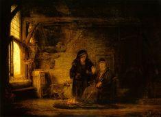 Rembrandt van Rijn - Tobit, Anna en het bokje