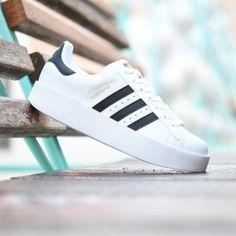 adidas superstar blancas plataforma