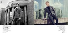 Alexander Johansson & Harry Goodwins Don Checked Suits for GQ Japan