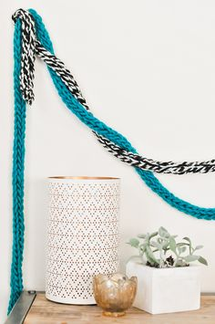DIY Fingerknit Garlands