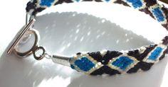 Make a diamond pattern friendship bracelet Friendship Bracelets Tutorial, Bracelet Tutorial, Types Of Craft, Jewelry Making Tutorials, Diy Jewelry, Jewellery, Diamond Pattern, 5 Minute Crafts, Craft Videos