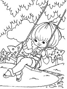 Rainbow Brite Was Playing Swing Coloring Pages