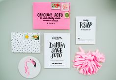 Fun invitations: http://www.stylemepretty.com/living/2015/04/13/get-the-look-a-palm-beach-inspired-brunch/ | Photography: Rach Lea - http://www.rachleaphoto.com/