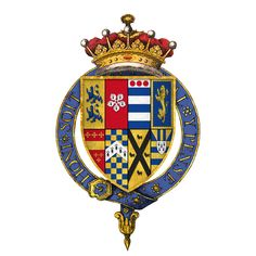 the son of King Henry VIII of England and his mistress Elizabeth Blount, and the only illegitimate offspring whom Henry acknowledged Arms of Sir Henry Fitzroy, KG, at the time of his installation as a knight of the Most Noble Order of the Garter Tudor History, British History, History Medieval, Medieval Times, Lancaster, Order Of The Garter, Sir Anthony, King Henry Viii, Wars Of The Roses