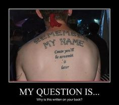 Not Mine But Funny As Hell by Shadowsca - A Member of the Internet's Largest Humor Community Funny As Hell, Funny Cute, The Funny, Funny Shit, Freaking Hilarious, Donald Trump, Tattoo Fails, Funny Tattoos Fails, Tattoo Memes
