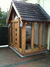oak and glass porch fully fitted