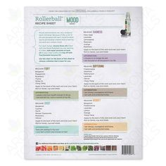 Rollerball Mood Series Recipe Sheets (25-pack)