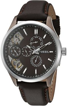 Fossil Mens Analog Display Japanese Automatic Brown Watch >>> For more information, visit image link. Fossil Watches For Men, Chronograph, Japanese, Seasons, My Favorite Things, Brown, Image Link, Stuff To Buy, India