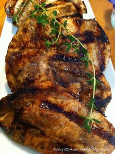 Rich and Sweet by Bia Rich: Balsamic Marinated Grilled Chicken