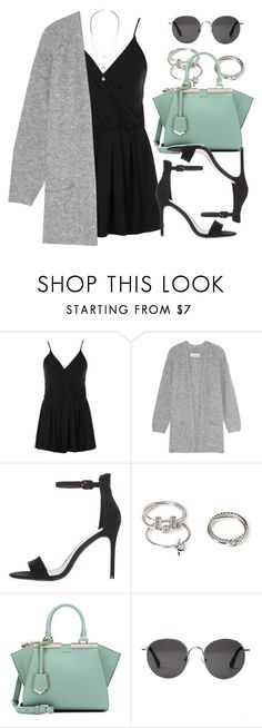 """Sin título #12575"" by vany-alvarado ❤ liked on Polyvore featuring Topshop, By Malene Birger, Forever 21, Fendi, The Row and H&M"