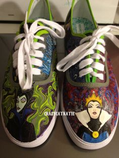 Custom Hand-Painted Shoes: Disney Villain Shoes. $100.00, via Etsy.rather have Converse though