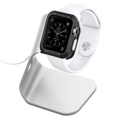 Apple Watch Stand S330 by Spigen - Simple in a good way, and reasonable priced.