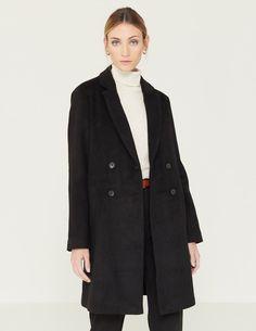 Abrigo de paño negro Boutique, Normcore, Style, Fashion, Black, Clothing, Swag, Moda, Fashion Styles