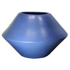 Beautiful & rare blue glaze diamond shaped vessel by LaGardo Tackett USA 1960's for Architectural #Pottery #ceramics
