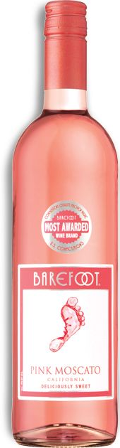 Barefoot Pink Moscato - inexpensive and deliciously sweet!