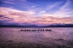 Λίμνη Τριχωνίδα, Αγρίνιο / Trichonida lake,Agrinio Serenity, Greece, Goth, Mountains, Sunset, Amazing, Travel, Image, Beautiful