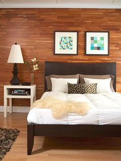 Natural elements bring warmth to this modern bedroom. More bedroom decorating ideas: http://www.bhg.com/rooms/bedroom/?socsrc=bhgpin061112