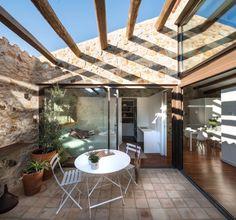 Pergola Attached To House Plans Refferal: 5275668442 Home Interior Design, Interior And Exterior, Porch And Terrace, Rural House, Town House, Backyard Pergola, Pergola Kits, Pergola Ideas, Village Houses