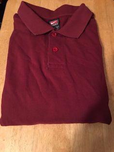 Men's NIKE TEAM Golf Polo Shirt - COLOR: WINE - Textured -100% Cotton - Size XL…