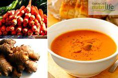 Receta de sopa desintoxicante de zanahoria y jengibre