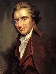 TOP handpainted art oil painting work-- British politico revolutionist  Thomas Paine  --FREE SHIPPING COST