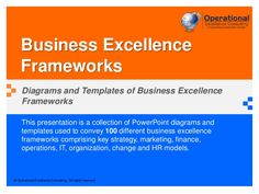 This presentation is a collection of PowerPoint diagrams and templates used to convey 100 different business excellence frameworks.