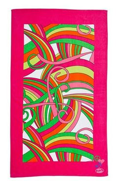 Add some flair at the beach with the Carmen Steve Madden beach towel. The modern stripe design takes up the majority of this generously sized beach towel. You can find this same print on a bed with the Steve Madden Carmen bedding set. The veloured finish offers a soft feel and a crisp and bright printed design. Take your fashion sense with you the next time you go to the beach! http://www.beddingstyle.com/products/carmen_beach_towel.asp