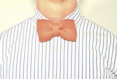 Rust Burlap Bow Tie