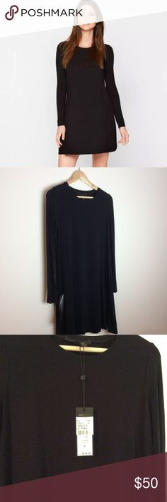 """NWT BCBG Max Azria Maternity Dress Jeanna Sz XS BCBG Max Azria Maternity Dress Sz XS Jeanna Product: 25209-01. Retails from Pea in the Pod for $118. Brand new with tag and side return label still attached. Color: Black. Material: 92% Viscose 8% Spandex.   Measurements: Bust: 34"""" Waist: 40"""" Hips: 48"""" Length: 35"""" Sleeves: 24"""" BCBGMaxAzria Dresses"""