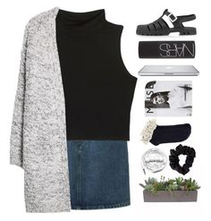 """""""M i r a b e l l e"""" by fabmaddie ❤ liked on Polyvore featuring Oasis, Topshop, NARS Cosmetics, VesseL, MANGO, American Apparel and Urbanears"""