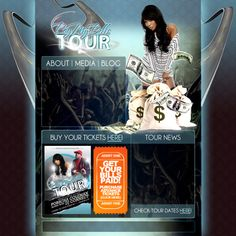 """#Throwback!  """"Pay My Bills Tour"""" Website by Gruvy Graphics"""