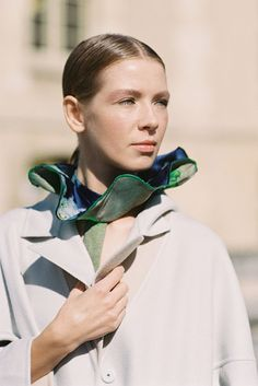 Russian designer Vika Gazinskaya, before Christian Dior, Paris, October 2012 - by VANESSA JACKMAN