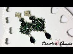 Tutorial Orecchini Camilla - Zoliduo, rivoli, superduo e rocaille - YouTube