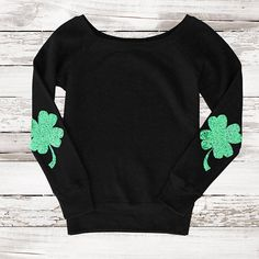 7 ate 9 Apparel Lucky Clover St Patricks Day Hoodie Pullover
