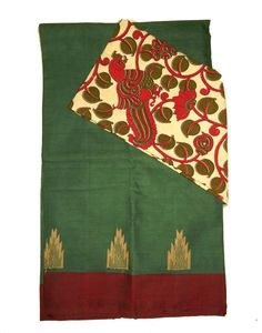 Kanchi COtton Sarees with Kalamkari Blouse Price: 1395/- (For Bulk Buyers / Wholesale / Boutiques / Retail shops for any trade inquiries Please contact Immediately our WhatsApp no: 8801302000)