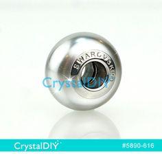 【5890-616】中孔珍珠(淡銀灰) - Charms 施華洛世奇水晶珍珠#5890-Light Grey淡銀灰(616)14mm
