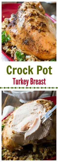 Crock Pot Turkey Breast. Turkey cooked in a slow cooker is tender and delcious. A crock pot makes it easy to enjoy turkey any day of the year.