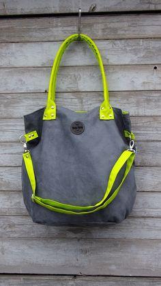 fd68116125479 Schultertaschen - Mana Mysza XL lime - ein Designerstück von MANA-MANA-BAGS  bei DaWanda