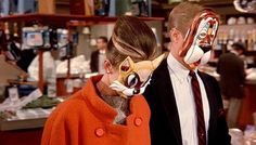 Breakfast at Tiffany's masks for wedding photos!
