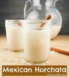 The yummiest Mexican Horchata drink and it's SO easy! This is so awesome for Taco Tuesday!