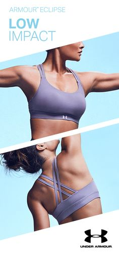 Move seamlessly. The Armour Eclipse Low Sports Bra is the perfect match for yoga, pilates and barre.
