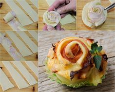 Rose ham recipe fast vickyart appetizer art in the kitchen Ham Recipes, Cooking Recipes, Party Entrees, Food Experiments, Flower Food, Finger Food Appetizers, Antipasto, Street Food, Brunch