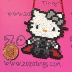 Thor Hello Kitty Perler Necklace by ZoZoTings