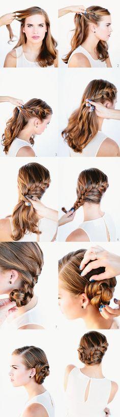 DIY Wedding Updo Hairstyles Tutorial #DIY #Wedding #Hairstyles