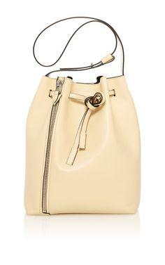 Medium leo bucket #bag in blonde sensua #leather by ELENA GHISELLINI